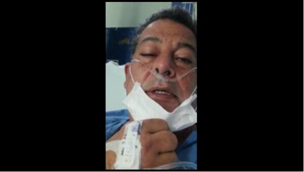 Carlos Cascante, alcalde de Tibás se encuentra hospitalizado desde hace nueve días. Foto: Captura de pantalla