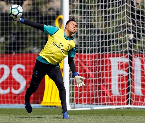 Keylor va por su tercera orejona para luego entrarle con todo al Mundial. Foto: Real Madrid TV