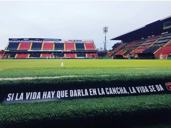 La popular frase está inmortalizada en el estadio de La Liga.