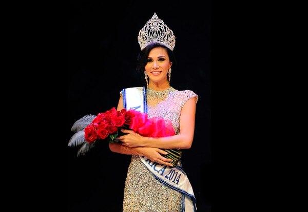 Karina Ramos, miss Costa Rica 2014 y empresaria. Archivo GN