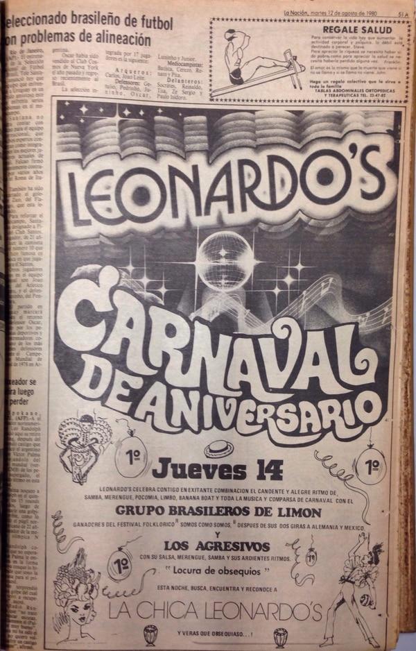 Era común ver anuncios de los salones de baile en los periódicos de la época. Reproducción La Nación.