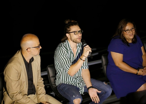 Gary Centeno dijo estar muy feliz de poder hace cine en su país y más con una película muy tica. Foto: Albert Marín