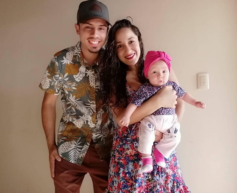 Verónica Miranda Gutiérrez y Jeiko Carballo Zumbado, tuvieron el 6 de octubre del 2020 a Nahara Carballo Miranda
