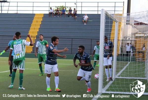 Dylan Flores ha llegado en buena forma a Cartaginés, pero no pudo evitar la derrota este miércoles. Foto: Cortesía Prensa Cartaginés