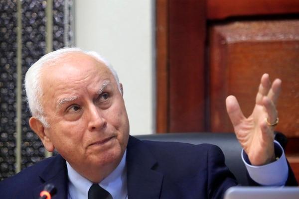 El ministro del MOPT cumplió 82 años el pasado 3 de marzo. Foto: Rafael Pacheco