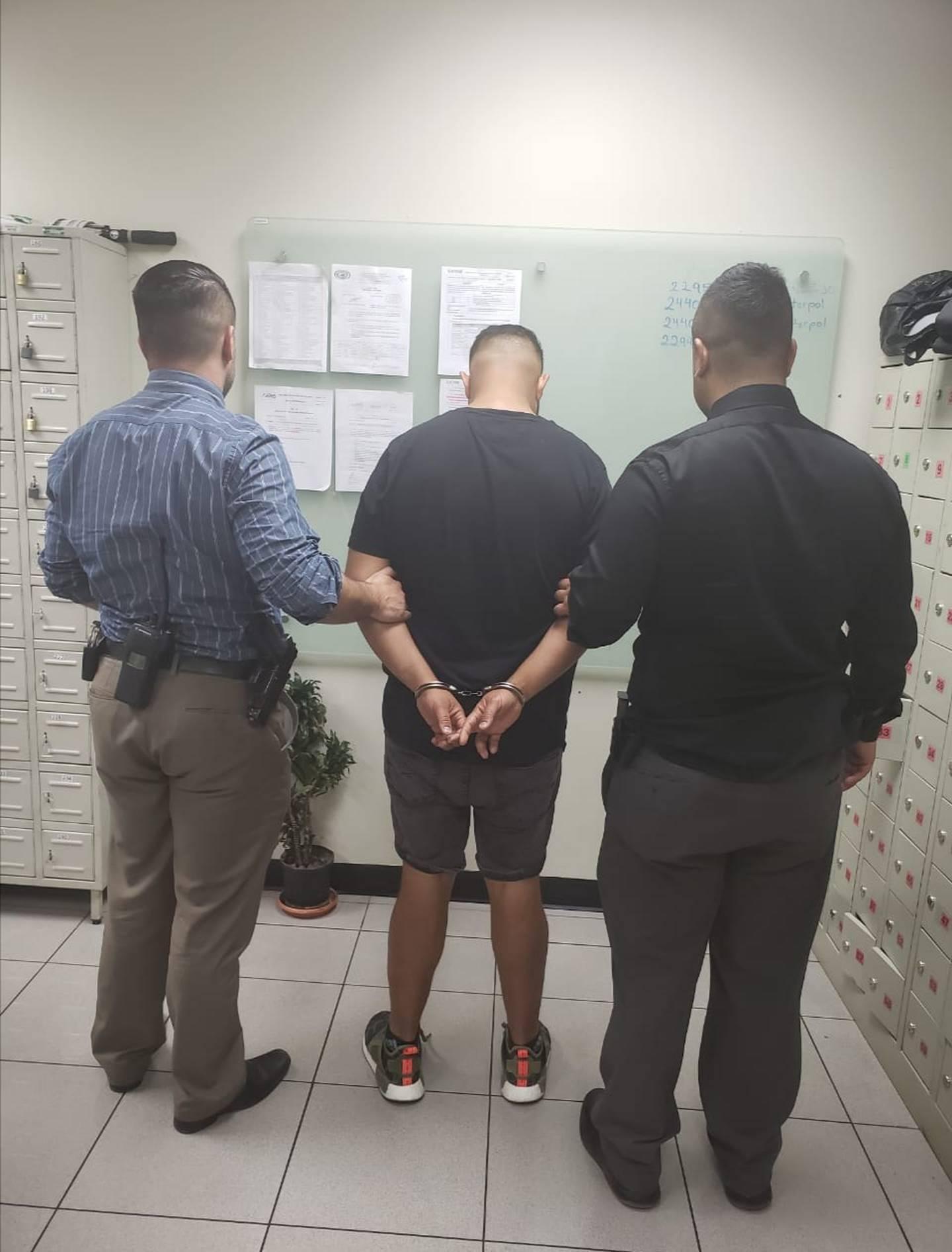 Detienen a tío de Keylor Navas por caso de estafa. Foto OIJ.
