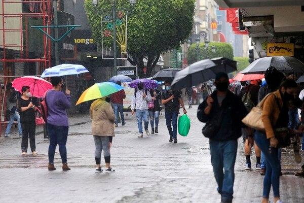 En el Valle Central ha llovido bastante. Foto: Rafael Pacheco