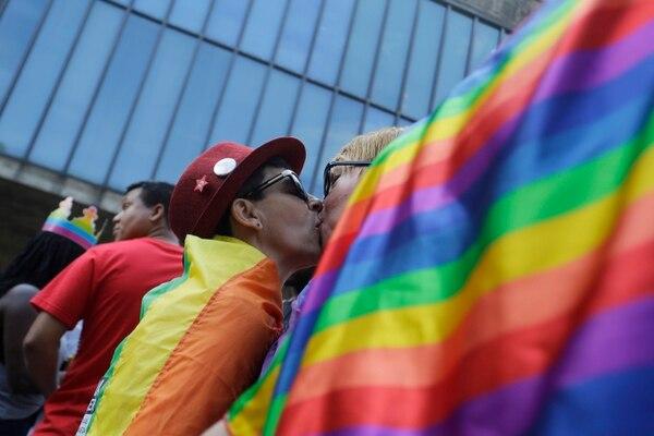 La marcha de Sao Paulo, Brasil es una de las más importantes del mundo. Foto: AP.