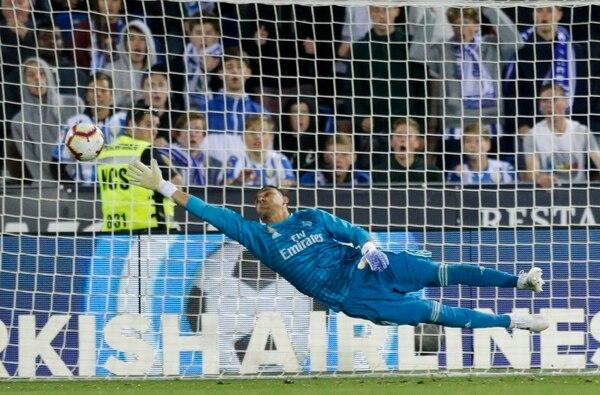 Ni Keylor pudo evitar el gol del Leganés, el remate iba muy esquineado. Foto AP