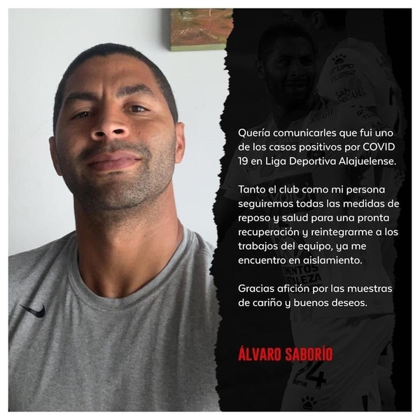Álvaro Saborío también dio a conocer que tiene la covid-19. Fotografía: Álvaro Saborío