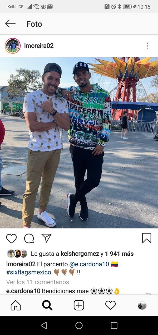 Los dos son nuevos jugadores en los Tuzos y se hacen buena compañía. Foto: Instagram