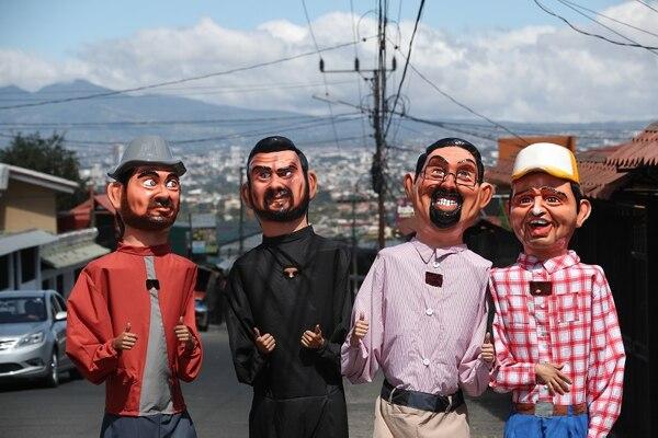Las mascaradas quedaron igualiticas a los cuatro personajes principales de la cinta. Fotografía: John Durán