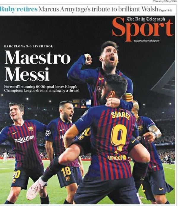 La prensa inglesa se deshizo en elogios para el argentino. Foto: Twitter.