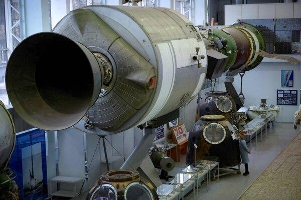Rusia guarda, y muestra, los aparatos que le dieron gloria en el espacio. AFP