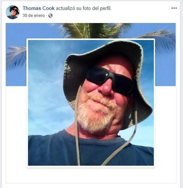 Thomas Jeffry Cook, de 62 años, desapareció en Jacó hace más de un mes. Foto: Tomada de Facebook.
