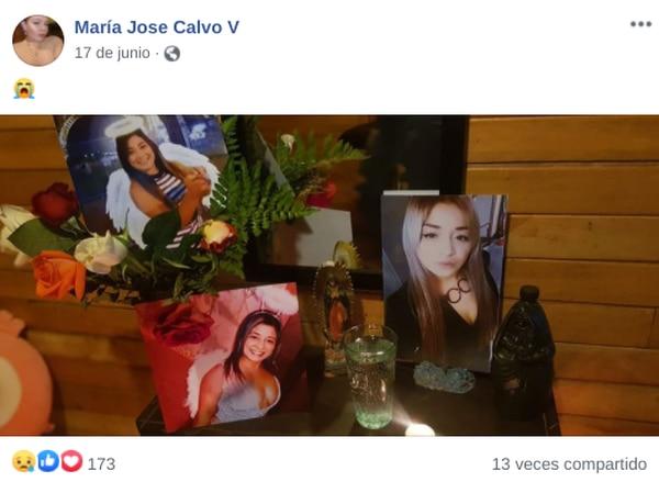 María José hasta hizo un altar por Luany. Foto: Tomadas de Facebook