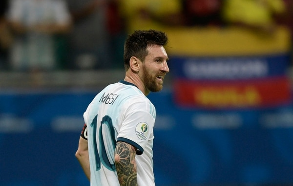 Lionel Messi, no anotó contra Colombia y solo en la Copa del 2010 el rosarino se fue en blanco en el torneo continental. AFP