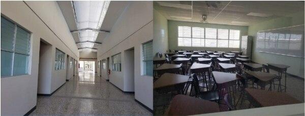 En el CTP de San Rafael de Alajuela hay 470 alumnos en el horario diurno y 160 el nocturno; hay 60 personas entre personal docente y administrativo. Cortesía.