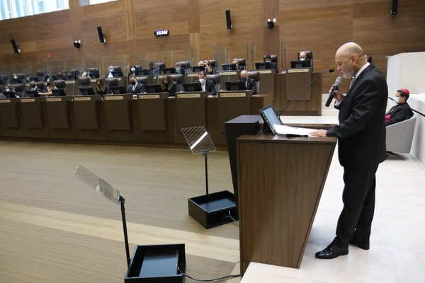 La Asamblea Legislativa se tuvo que cerrar por un brote de covid de 44 funcionarios. Foto: Asamblea Legislativa.