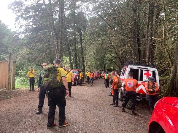 Este sábado los socorristas entraron a la montaña para tratar de ubicarlo. Foto: Cortesía