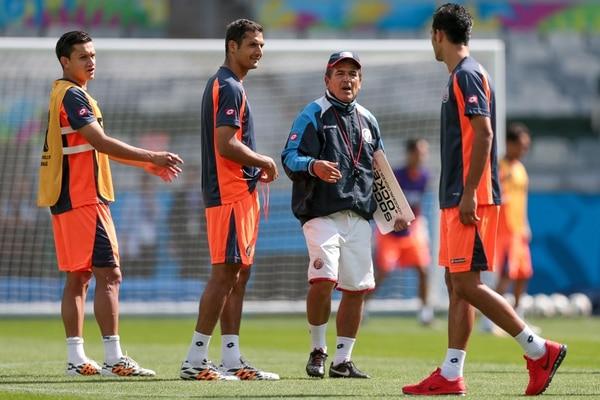 Celso junto a Pinto durante un entrenamiento en Belo Horizonte durante el Mundial de Brasil 2014. Agencia O Globo