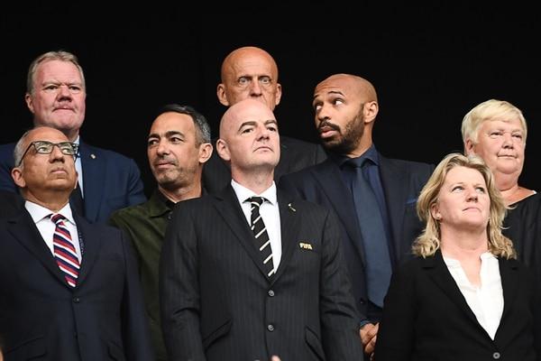 Según Gianni Infantino, presidente de la FIFA, ellos sí luchan contra el racismo aunque la verdad nunca hacen nada. AFP