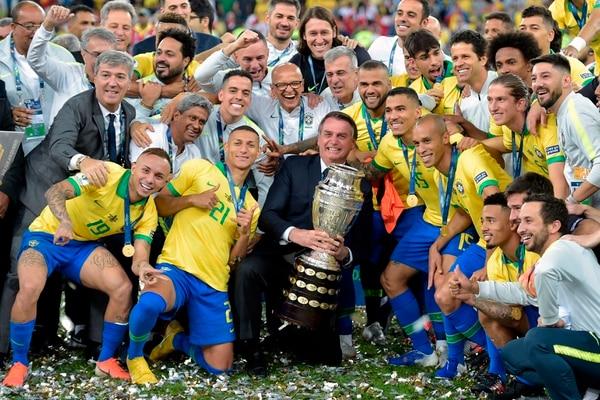 Brasil conquistó la copa América del 2019 en el Maracaná. Fotografía: AFP.