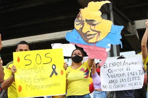 Este miércoles también hubo manifestaciones en Colombia. Foto: John Durán.