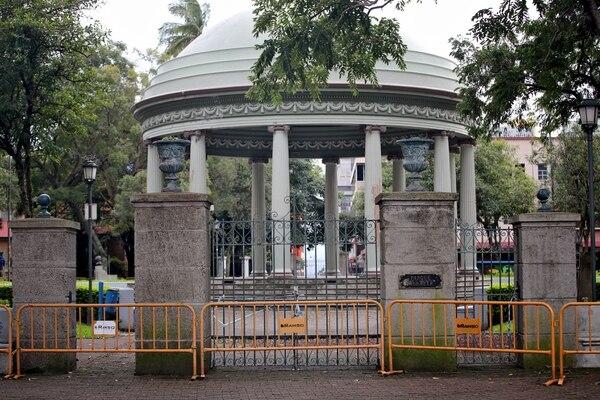 La pandemia obligó a cerrar los parques y espacio públicos para evitar contagios de covid-19. Foto: John Durán.